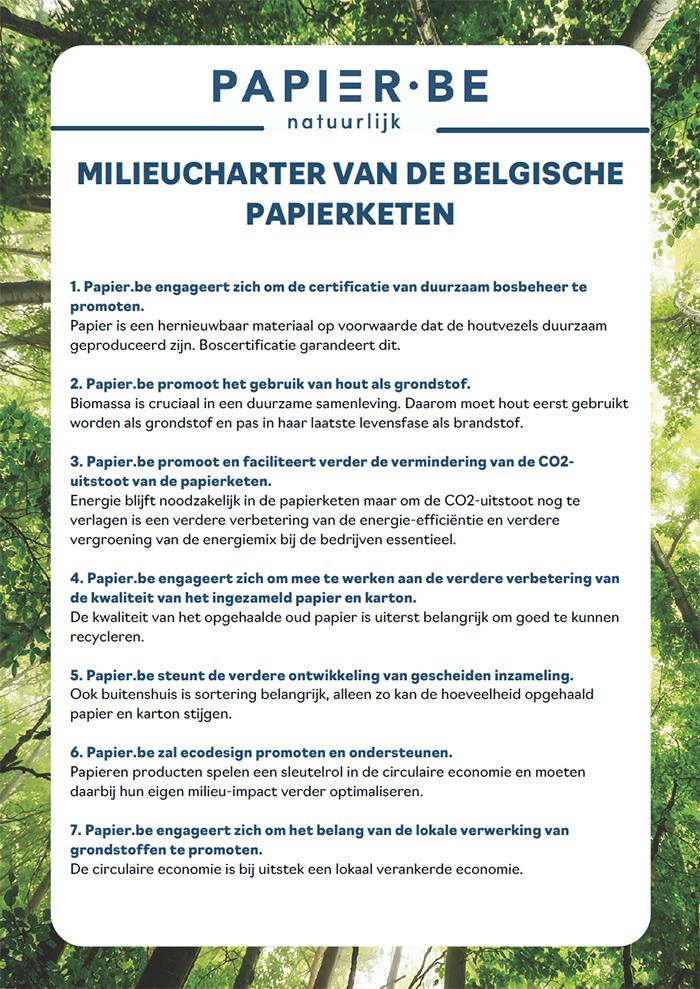 Milieucharter van de Belgische papierketen